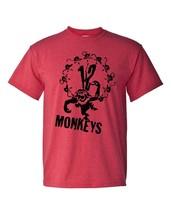 12 Monkeys T-shirt retro classic 90's sci-fi movie cotton blend heather red tee image 2