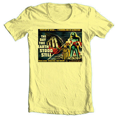 Day the Earth Stood Still T-shirt retro sci-fiction movie cotton graphic tee