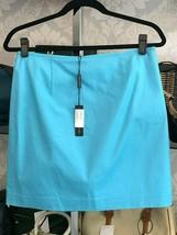 """ELIE TAHARI Tropic Sea Blue """"Alexis"""" Cotton Skirt Style#E5035302 Sz 8 NWT - $122.15"""