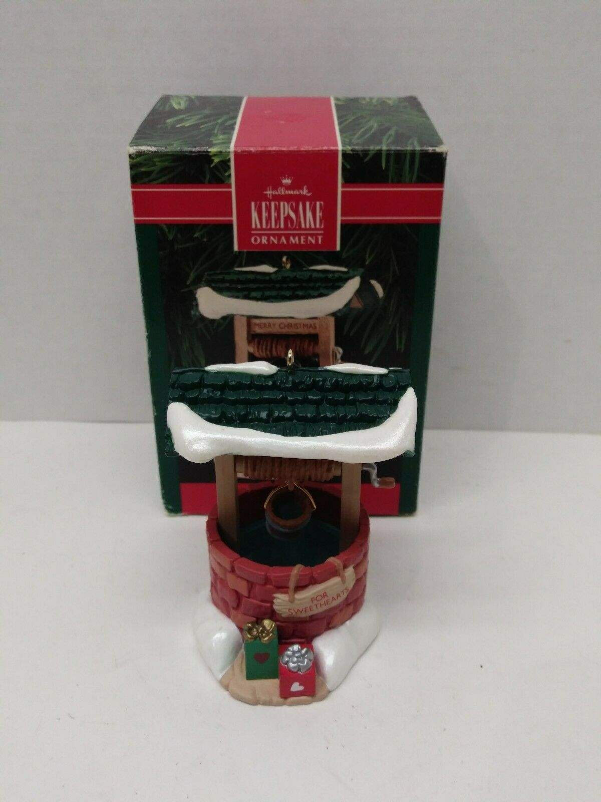 Primary image for Hallmark 1990 Merry Christmas Wishing Well for Sweethearts Christmas Ornament
