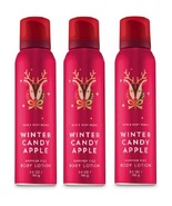 Bath & Body Works Winter Candy Apple Shimmer Fizz Body Lotion x3 - $23.99