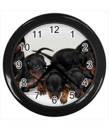 Machester Terrier Wall Clock - Puppies Toy Dog - $17.41