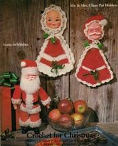 Vtg Mrs. Putter Doll Tote Pilgrim Bunny Mr Mrs Claus Potholder Crochet Patterns - $13.99