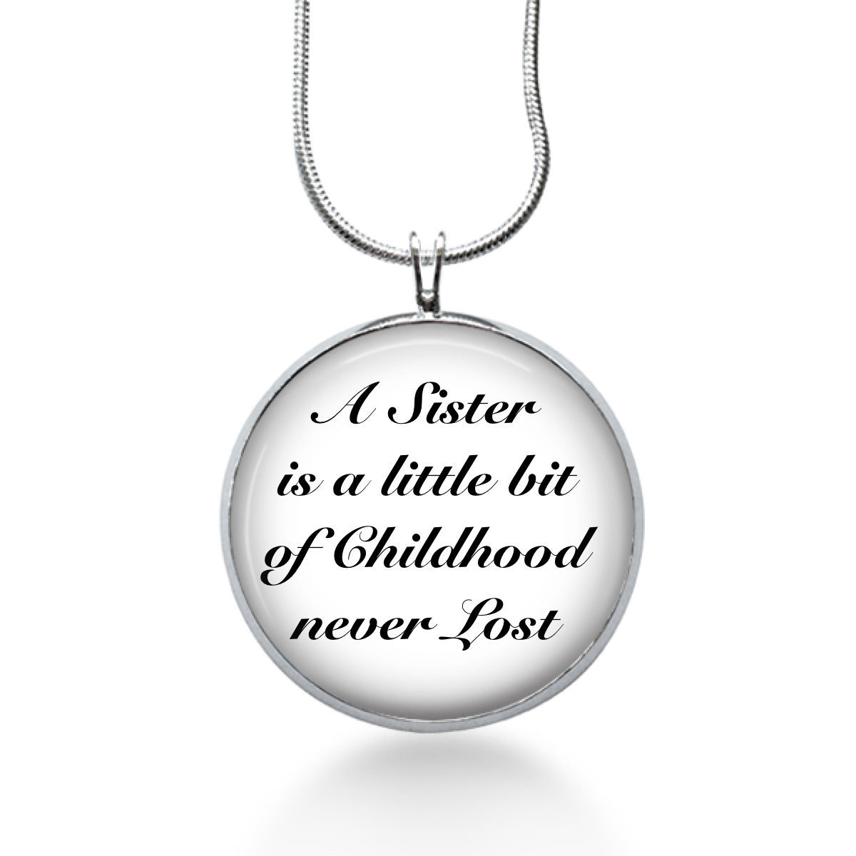 Primary image for Sister Necklace- A Sister is a little bit of Childhood - sister jewelry - sis