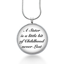 Sister Necklace- A Sister is a little bit of Childhood - sister jewelry ... - $18.32