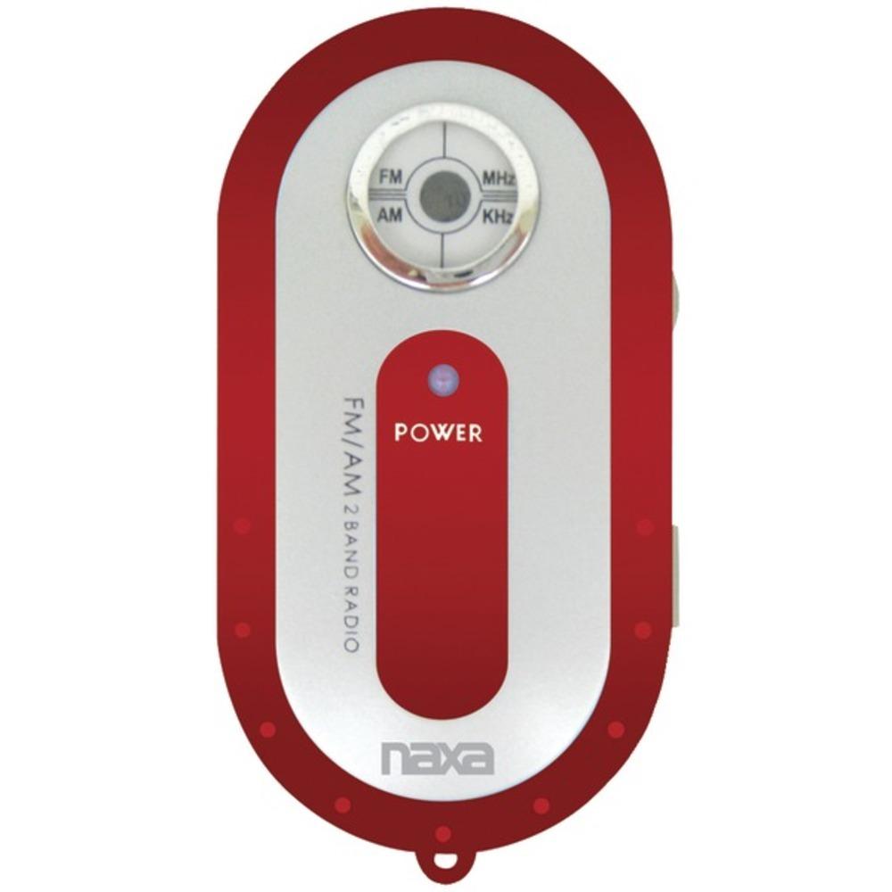 Naxa NR720RD AM/FM Mini Pocket Radio (Red)