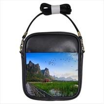 Wetlands in Thailand Girls Leather Sling Bag & Women's Handbag - $14.54+
