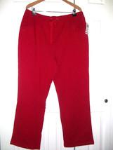 Karen Scott Woman NWT Petite Classic Drawstring Lounge Pants   RED 1X - 3X - $21.99