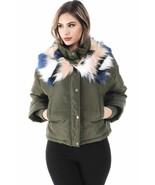 Salt Tree Women's Heavyweight Thick Nylon Zipper Front Faux Fur Jacket U... - $64.99
