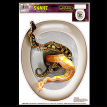 Gothic Halloween Prop-SNAKE TOILET TOPPER-Tattoo Cling Decal Bathroom De... - $6.90