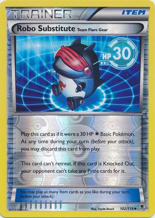 Robo Substitute 102/119 Reverse Holo Uncommon Trainer Phantom Forces Pokem image 3