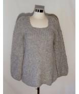 BCBG Max Azria Fabulous Heather Gray Plush Alpaca Tunic Sweater Scoop Ne... - $24.80