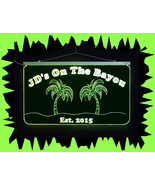 Personalized Bar Sign, Man Cave Sign - Handmade, Multicolor, Palm Trees - $138.60