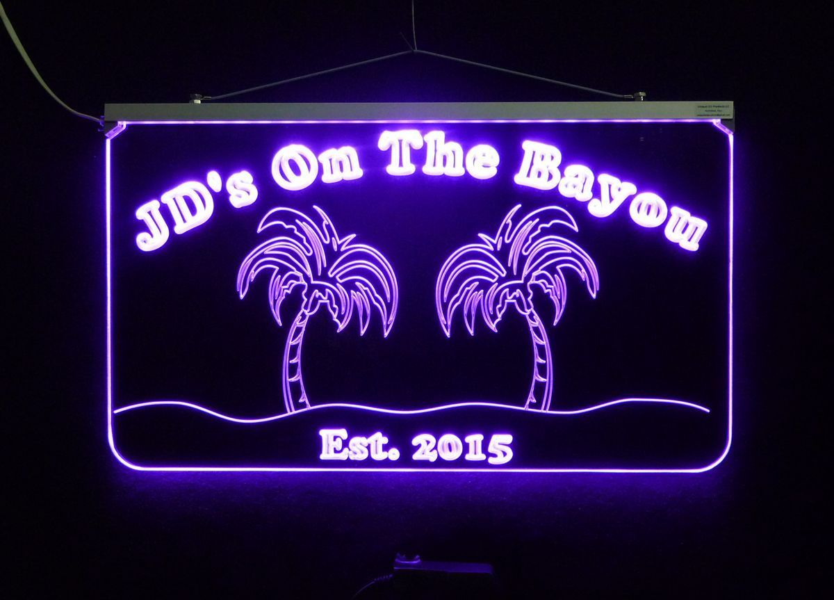 Personalized Bar Sign, Man Cave Sign - Handmade, Multicolor, Palm Trees image 4