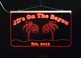 Personalized Bar Sign, Man Cave Sign - Handmade, Multicolor, Palm Trees image 5