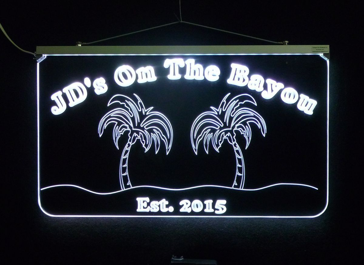 Personalized Bar Sign, Man Cave Sign - Handmade, Multicolor, Palm Trees image 6