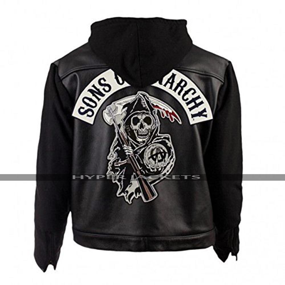Sons of Anarchy Outlaws Hoodie Biker Jacket