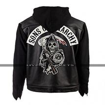 Sons of Anarchy Outlaws Hoodie Biker Jacket image 1
