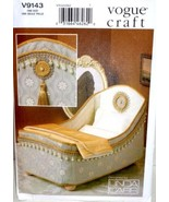 "14"" Doll Bed + Bedding Set Sewing Pattern Vogue Craft 9143 Designer Lind... - $10.95"