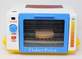 Vintage Fisher Price Golden Glow Toaster Oven 2117 Fun With Food 1987 w/... - $18.95