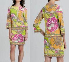 Multi Color Elegant Women Floral Flower patterned Dresses T-shirts Silk ... - $57.50
