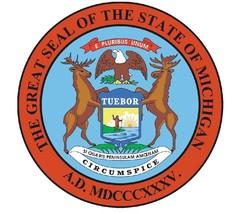 Michigan State Seal Sticker MADE IN THE USA R541 - $1.45+