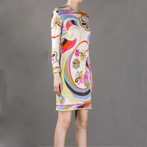 MULTI COLOUR Colorful Women Jersey Elastics Elastic Above Knee Dress Dre... - $53.50
