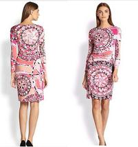 Geometric Pink Logo Printed Tassel Stretch Bodycon Decoration Temperamen... - $53.50