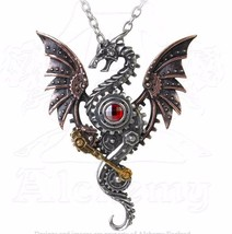 Blast Furnace Behemoth Steampunk Mechanical Dragon Pendant Alchemy Gothi... - $75.00