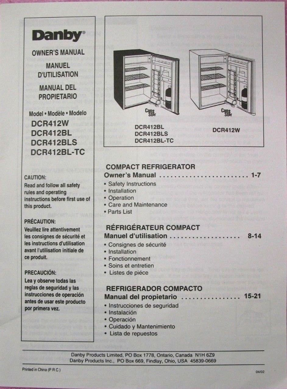 danby mini fridge owner s manual only for and 50 similar items rh bonanza com danby diplomat mini fridge manual danby mini fridge instruction manual