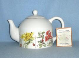 Hallmark Marjolein Bastin Wildflower Meadow Tea Pot 1997 Teapot New with... - $21.99