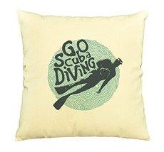 Vietsbay Go Scuba Diving with diver Printed Cotton Decorative Pillows Ca... - $15.99