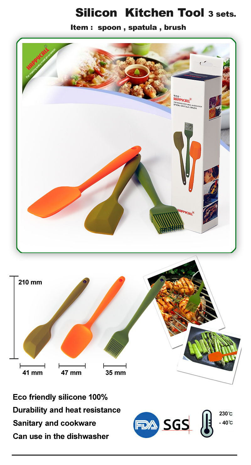cooking utensil  Silicone spatula spoon brush set cooking tool Brand New 10box