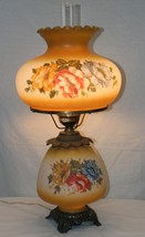 Antique Victorian Gone With the Wind Hand Painted Globe Lighted Lamp and... - $250.00