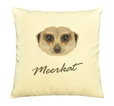 Vietsbay Portrait of African Meerkat Printed Cotton Decorative Pillows C... - $15.99