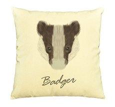 Vietsbay Portrait of Badger Printed Cotton Decorative Pillows Case VPLC - $15.99