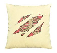 Vietsbay A Chest Bones Scratch Printed Cotton Decorative Pillows Case VPLC - $15.99