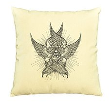 Vietsbay All seeing Eye of Providence Print Cotton Decorative Pillows Ca... - $15.99