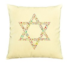 Vietsbay Multicolored Star of David Printed Cotton Decorative Pillows Ca... - $15.99