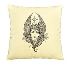 Vietsbay Female diety with stars wings and moon Printed Cotton Pillows C... - $15.99