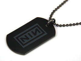 NIN Nine Inch Nails Black Dog Tag Necklace - $15.99