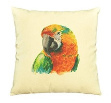 Vietsbay Hand Drawn Parrot Head Printed Cotton Decorative Pillows Case VPLC - $15.99