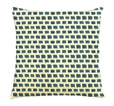 Vietsbay Watercolor blue rhombus-3 Printed Cotton Decorative Pillows Cas... - $15.99