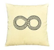 Vietsbay Snake eating its tale Printed Cotton Decorative Pillows Case VPLC - $15.99