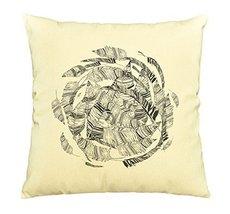 Vietsbay Hand-drawn feathers Printed Cotton Decorative Pillows Case VPLC - $15.99