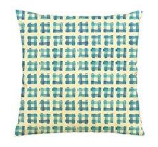 Vietsbay Watercolor blue rhombus-5 Printed Cotton Decorative Pillows Cas... - $15.99
