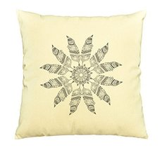 Vietsbay Greeting Beautiful card with Feather Printed Cotton Pillows Cas... - $15.99