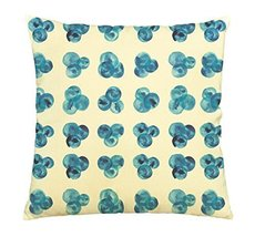 Vietsbay Watercolor blue polka dots Printed Cotton Decorative Pillows Ca... - $15.99