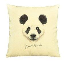 Vietsbay Portrait of Panda Printed Cotton Decorative Pillows Case VPLC - $15.99