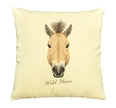 Vietsbay Portrait of Wild Horse Printed Cotton Decorative Pillows Case VPLC - $15.99